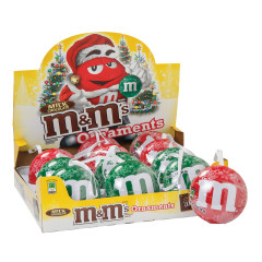 M&M'S MILK CHOCOLATE ORNAMENT 0.93 OZ TINS