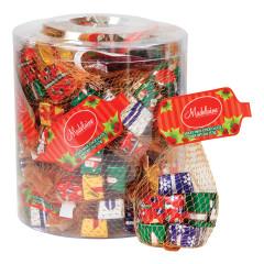 MADELAINE MILK CHOCOLATE FOILED CHRISTMAS PRESENTS 2 OZ MESH BAG