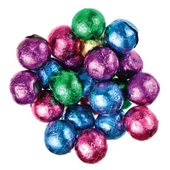 MADELAINE DARK CHOCOLATE FOILED CHRISTMAS BALLS