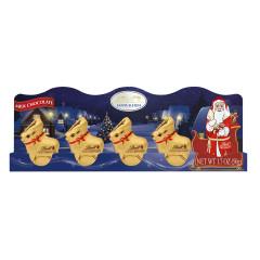LINDT MILK CHOCOLATE MINI SLEIGH 5 PC 1.7OZ