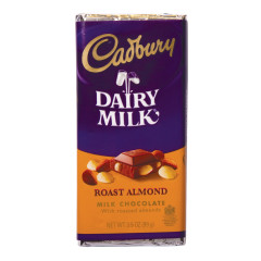 CADBURY ROAST ALMOND MILK CHOCOLATE 3.5 OZ BAR