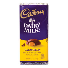 CADBURY CARAMELLO MILK CHOCOLATE 3.5 OZ BAR