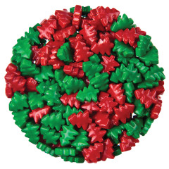 CLEVER CANDY RED AND GREEN DEXTROSE CHRISTMAS TREES