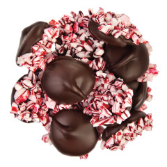 NASSAU CANDY DARK CHOCOLATE NONPAREILS WITH CRUSHED PEPPERMINT