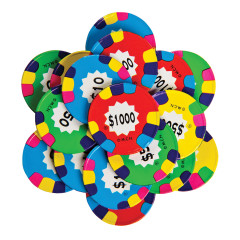 MADELAINE ASSORTED FOILED MILK CHOCOLATE POKER CHIPS