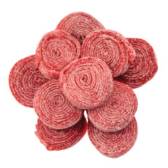 CLEVER CANDY STRAWBERRY SOUR ROLLED BELTS