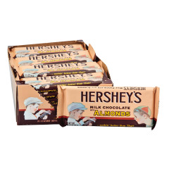HERSHEY'S NOSTALGIC MILK CHOCOLATE WITH ALMONDS 3.5 OZ BAR
