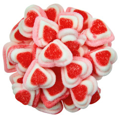 VIDAL RED, PINK, WHITE GUMMY TRIPLE LAYER HEARTS