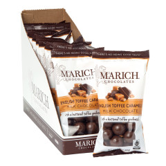 MARICH MILK CHOCOLATE ENGLISH TOFFEE CARAMELS 2.1 OZ