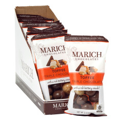 MARICH TRIPLE CHOCOLATE TOFFEE 2.3 OZ