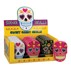 SUGAR SKULLS SWEET CANDY SKULLS 1.4 OZ TIN