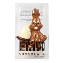 EMVI MILK CHOCOLATE BUNNY WITH EGG WHEELBARROW 2.64 OZ BOX