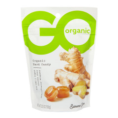 GO ORGANIC GINGER EXTREME HARD CANDY 3.5 OZ POUCH