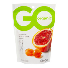 GO ORGANIC BLOOD ORANGE HARD CANDY 3.5 OZ POUCH