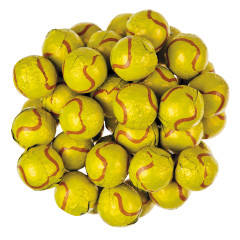 THOMPSON MILK CHOCOLATE FOILED TENNIS BALLS