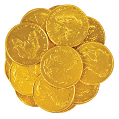 THOMPSON MILK CHOCOLATE LARGE FOILED GOLD COINS