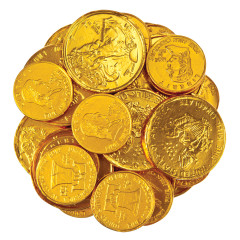 THOMPSON MILK CHOCOLATE FOILED GOLD COINS