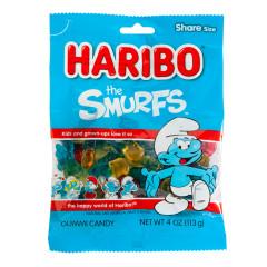 HARIBO THE SMURFS GUMMI CANDY 4 OZ PEG BAG