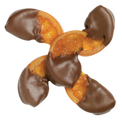 NASSAU CANDY MILK CHOCOLATE HALF DIPPED ORANGES