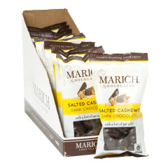 MARICH DARK CHOCOLATE SEA SALT CASHEWS 2.3 OZ