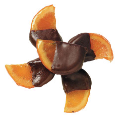 NASSAU CANDY DARK CHOCOLATE HALF DIPPED ORANGES