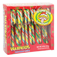 WARHEADS SOUR CANDY CANES 6 OZ BOX