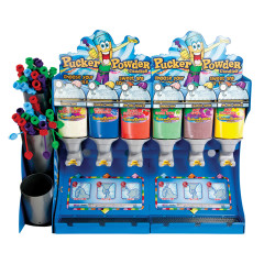 PUCKER POWDER 6 FLAVOR DISPENSING UNIT