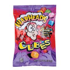 WARHEADS CHEWY CUBES 5 OZ PEG BAG