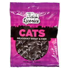 GUSTAF'S LICORICE CATS 5.2 OZ PEG BAG