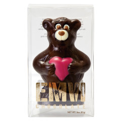 EMVI DARK CHOCOLATE LOVE BEAR 3 OZ BOX