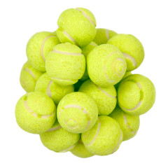 CLEVER CANDY SOUR POWDER FILLED TENNIS GUMBALL