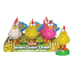 KOOKOO CLUCKIN' CHICKEN 0.18 OZ CANDY DISPENSER