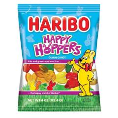 HARIBO HAPPY HOPPERS GUMMI CANDY 4 OZ PEG BAG