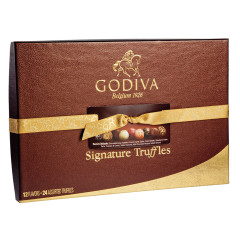 GODIVA 24 PC SIGNATURE TRUFFLES 16.5 OZ BOX