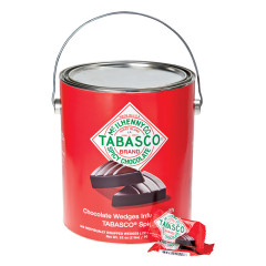 TABASCO SPICY DARK CHOCOLATE WEDGES 32 OZ PAINT CAN