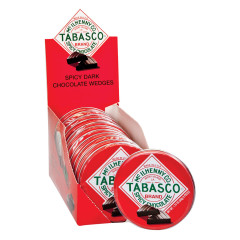 TABASCO SPICY DARK CHOCOLATE WEDGES 1.75 OZ TIN