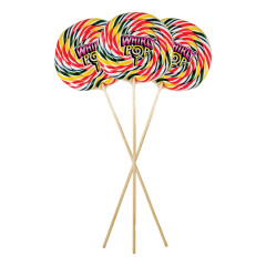 WHIRLY POP GIANT RAINBOW COLORS 9 INCH 24 OZ