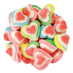 CLEVER CANDY RAINBOW TRIPLE LAYER HEARTS