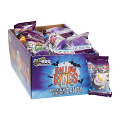 HALLOW RINGS ASSORTED RING LOLLIPOP CANDY 0.35 OZ