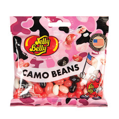 JELLY BELLY PINK CAMO BEANS JELLY BEANS 3.5 OZ BAG