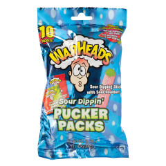 WARHEADS SOUR DIPPIN' PUCKER PACKS 10 PC 3 OZ PEG BAG