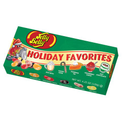 JELLY BELLY HOLIDAY FAVORITES 5 FLAVOR 4.25 OZ GIFT BOX