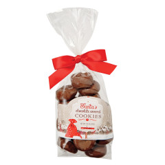 AMUSEMINTS SANTA'S CHOCOLATE COVERED SANDWICH COOKIES 7.25 OZ BAG