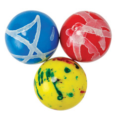 CLEVER CANDY ASSORTED JAWBREAKERS WITH GUM CENTER 2.25 INCHES