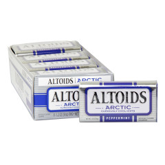 ALTOIDS ARCTIC PEPPERMINT MINTS 1.2 OZ TIN