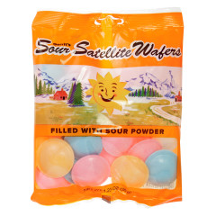 GUSTAF'S SOUR SATELLITE WAFERS 1.23 OZ PEG BAG