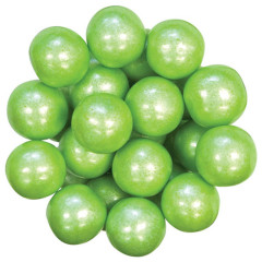 CELEBRATION SHIMMER LIME GREEN GUMBALLS 1 INCH
