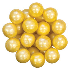 CELEBRATION SHIMMER YELLOW GUMBALLS 1 INCH