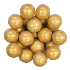 COLOR IT CANDY SHIMMER GOLD GUMBALLS 1""