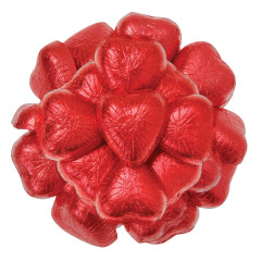 NASSAU CANDY MINI RED FOIL MILK CHOCOLATE HEARTS